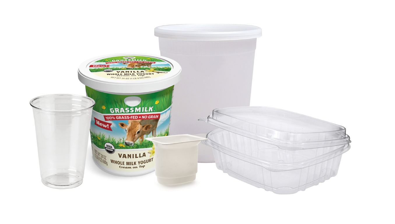 Plastic Containers 2 Large Medium 2