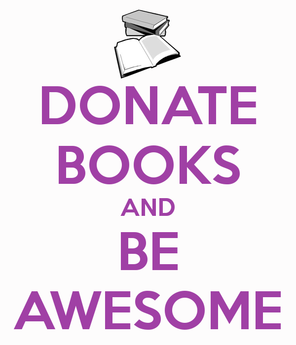 donate books and be awesome