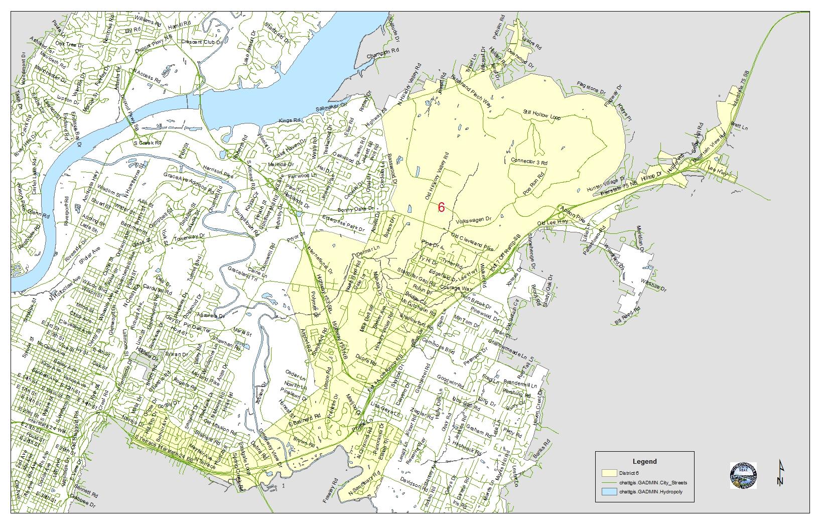 district 6 footprint