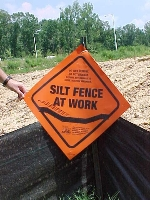 silt fence sign