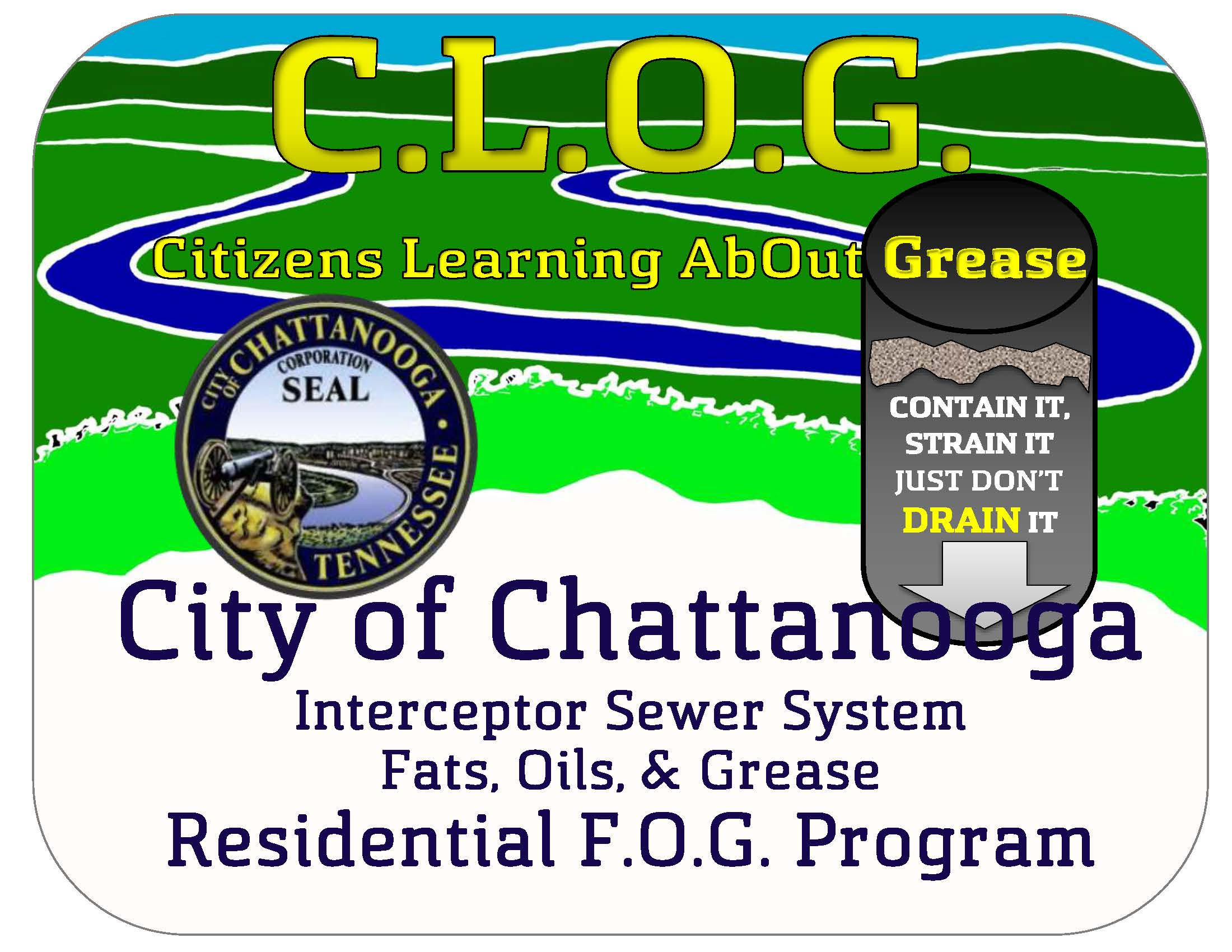 City of Chattanooga Residential F.O.G. Program Graphic Logo Draft 8 18 2015